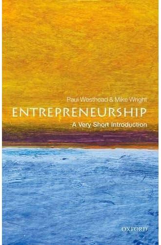 Entrepreneurship<br>a very short introduction