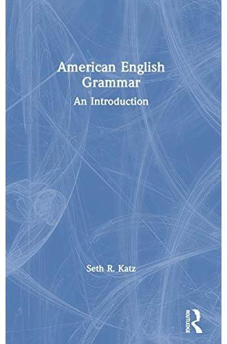 American English grammar<br>an introduction