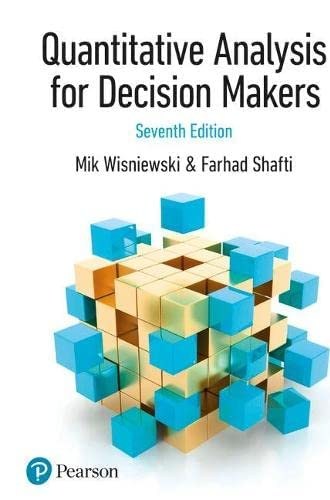Quantitative analysis for decision makers<br>Mik Wisniewski, ...