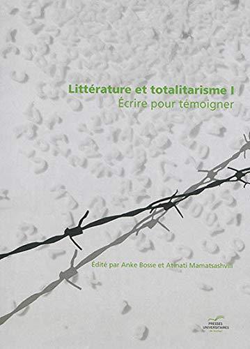 Littérature et totalitarisme