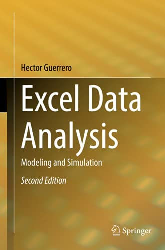 Excel data analysis<br>modeling and simulation<br>Hector Guerr...
