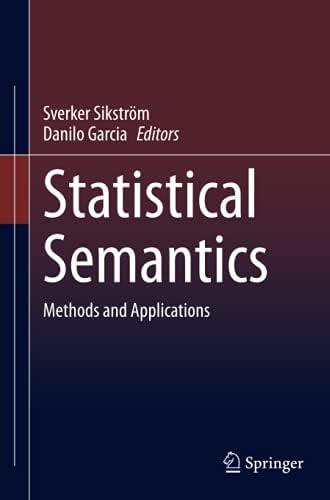Statistical semantics<br>methods and applications