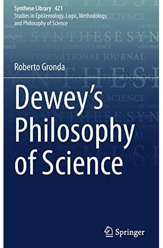 Dewey's philosophy of science<br>Roberto Gronda